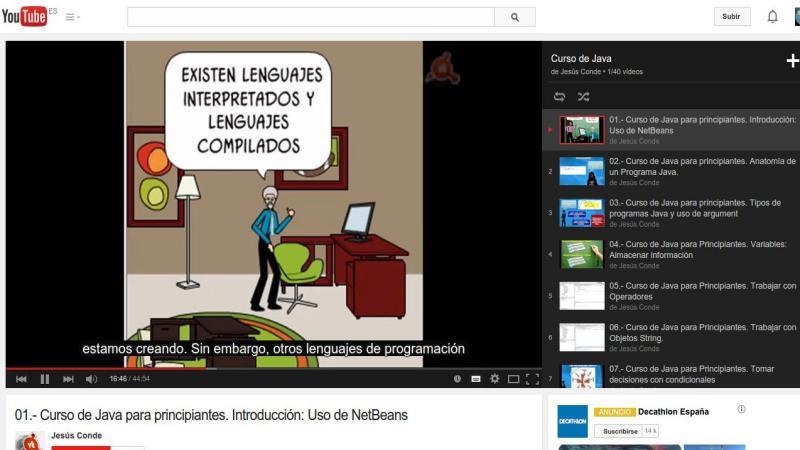 Un curso de Java para principiantes en 40 vídeos