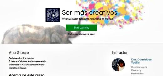"""Interesante curso gratuito para aprender a """"Ser más creativos"""""""