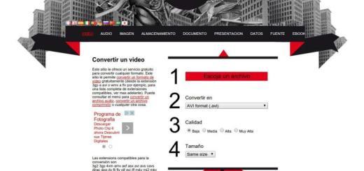 El convertidor: conversiones online y gratis para todo tipo de archivos