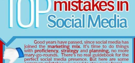 Errores más comunes en Social Media (infografía)