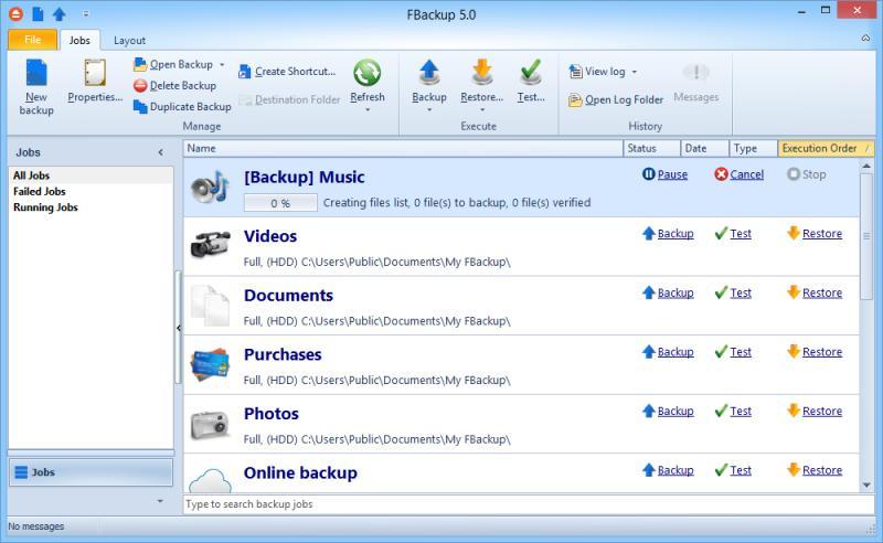 FBackup: software gratis para realizar copias de seguridad