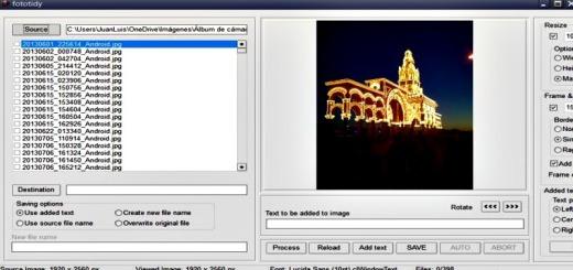 Fototidy: añade marcos, textos y redimensiona lotes de imágenes