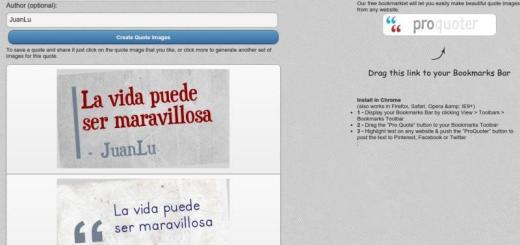 MakeAQuoteImage: utilidad web para convertir frases en imagen