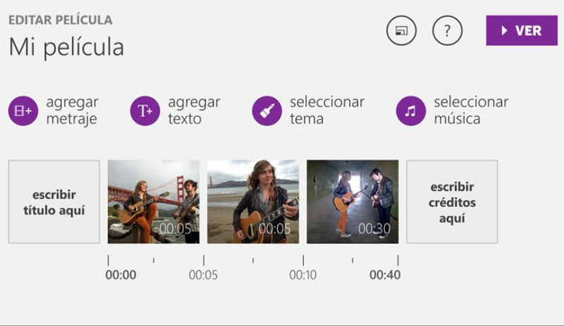 Movie Creator Beta: crea vídeos gratis en Windows 8