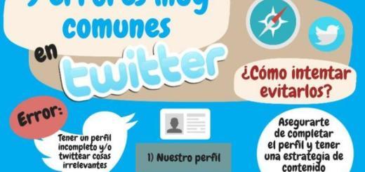 Nueve errores muy frecuentes en Twitter (infografía)