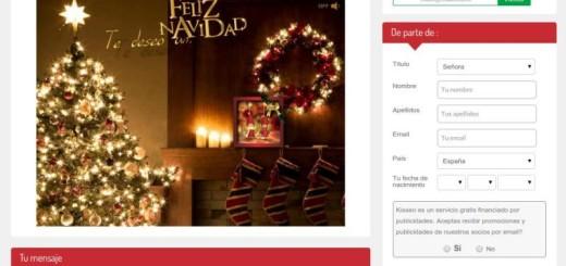 3 páginas para enviar postales de Navidad animadas