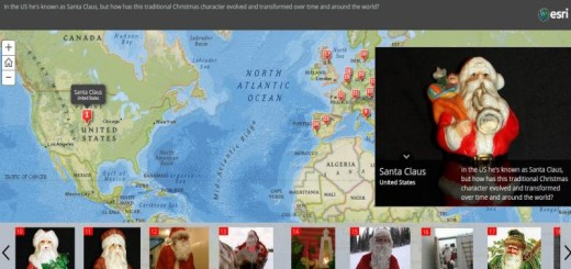 Santas Around the World: mapa interactivo con los nombres de Papá Noel en el mundo