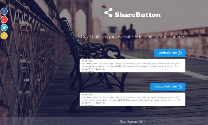 Share Button: inserta botones sociales en tu sitio fácilmente