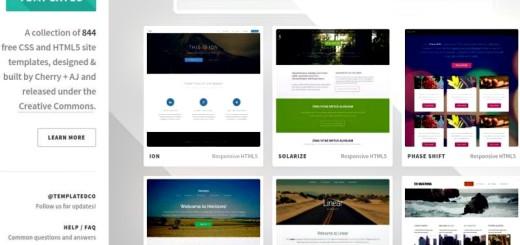 Templated: 844 plantillas CSS y HTML5 con licencia Creative Commons