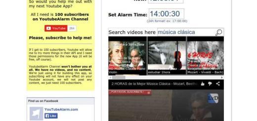 YouTubeAlarm: usa vídeos de YouTube como alarma o despertador