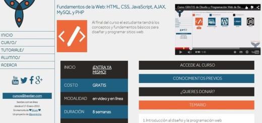 Un curso gratuito de Diseño y Programación Web