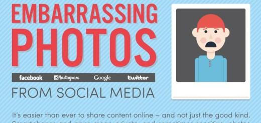 ¿Cómo eliminar fotos embarazosas de las Redes Sociales? (infografía)