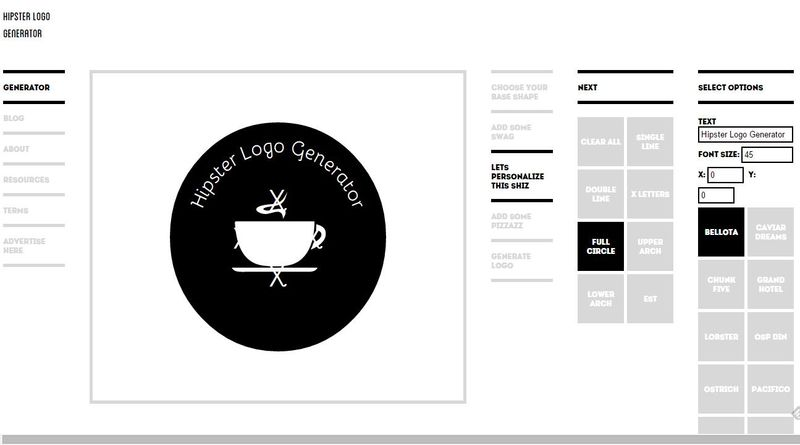 Hipster logo generator pr ctico generador de logotipos online for Hipster logo generator