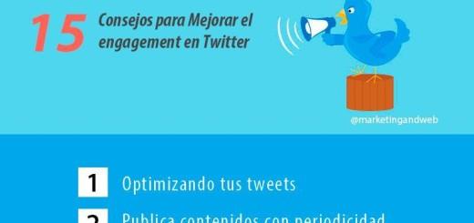 Infografía con 15 útiles consejos para un mayor engagement en Twitter