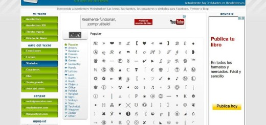 Messletters: impresionante colección de símbolos para decorar textos y publicaciones sociales