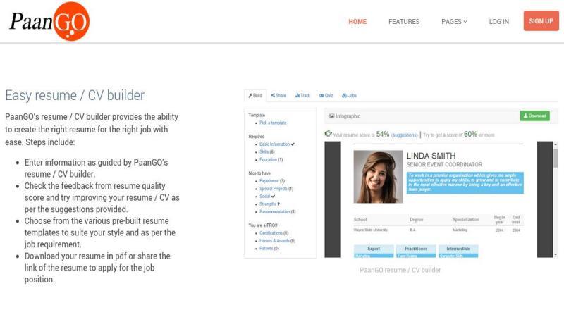 PaanGO: creación de Currículum Vitae como infografías