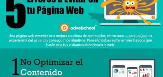 Los 5 errores que debes evitar en tu página web (infografía)