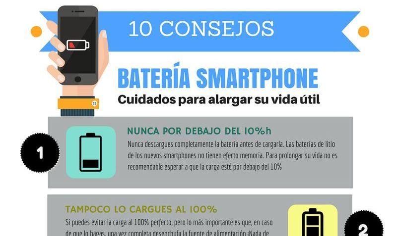 10 consejos para alargar la vida útil de la batería de tu smartphone (infografía)