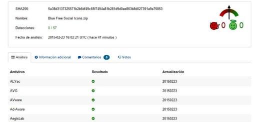 Usando VirusTotal para asegurarnos de que un archivo es inofensivo