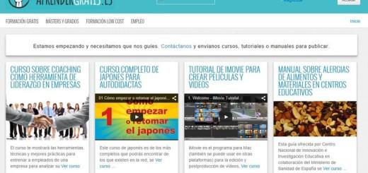 Aprender Gratis: cursos, guías y tutoriales gratis y en español