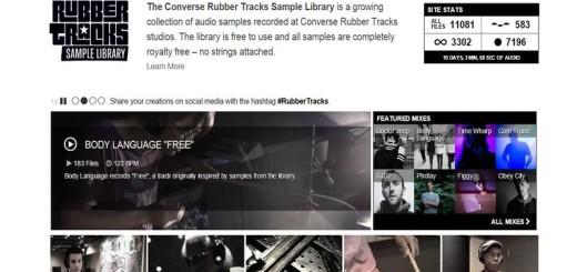 Converse Rubber Tracks: más de 11.000 archivos musicales gratis