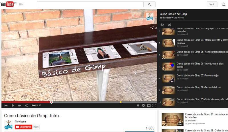 Vídeo curso básico de GIMP en español