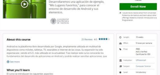 Introducción a la programación para Android (curso gratuito)