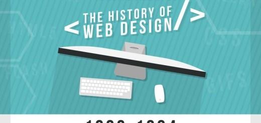 La historia del diseño web desde 1990 a la actualidad (infografía)