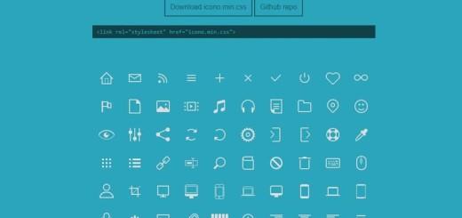 Gran colección de iconos CSS para insertar en tu sitio