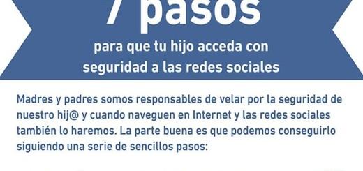 Las 7 claves para que tu hijo use de forma segura las redes sociales (infografía)