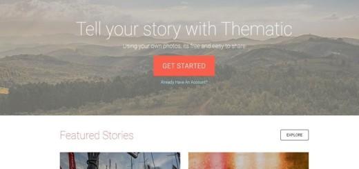 Thematic: crea historias visuales, con fotos y textos, para compartir