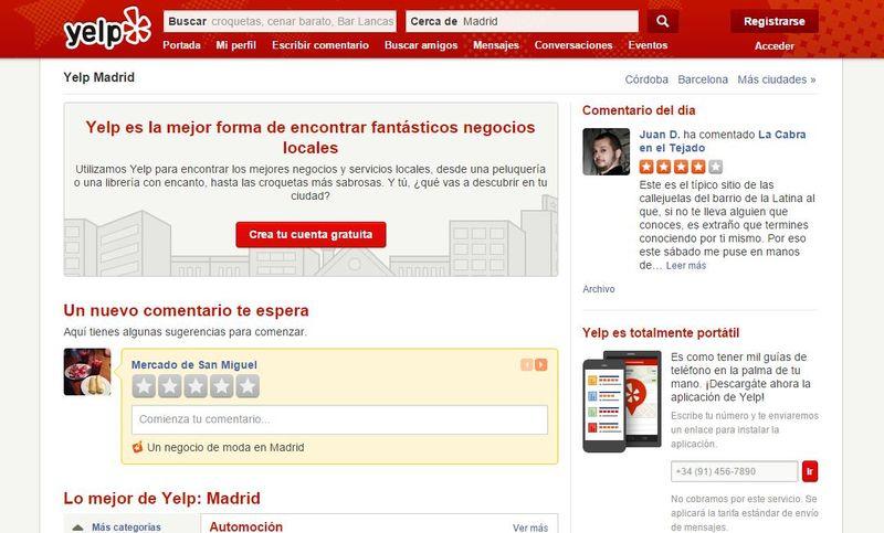 Yelp: la red social para descubrir los mejores negocios y profesionales