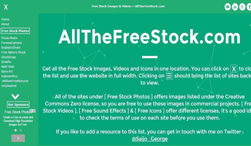 AllTheFreeStock: directorio de páginas donde descargar imágenes libres