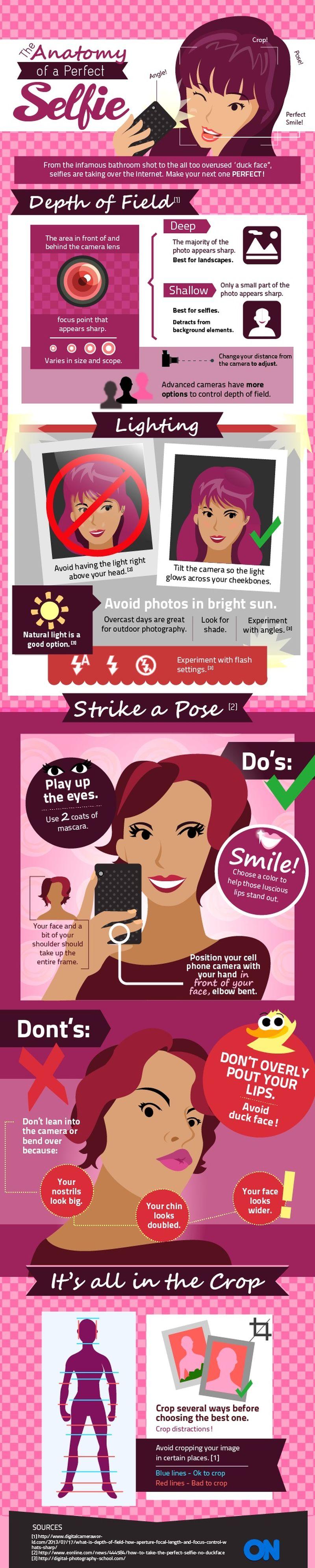 Aprende a tomar selfies perfectos (infografía)