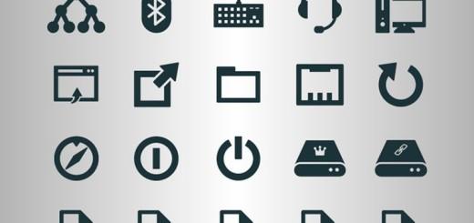 Colección de iconos de sistema operativo móvil en SVG y PNG
