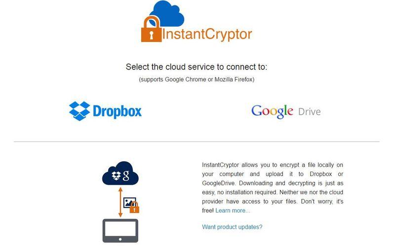 InstantCryptor: utilidad web para cifrar archivos que almacenas en la nube