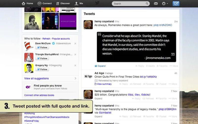 Pullquote: si usas Chrome y Twitter no te pierdas esta extensión