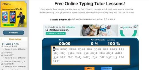 Speed Typing Online: curso y ejercicios para escribir más rápido al teclado