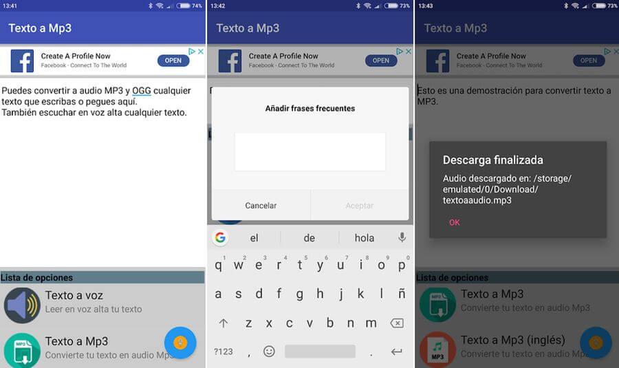 Texto a Mp3 y Ogg Texto a Mp3: app Android para convertir textos a Mp3