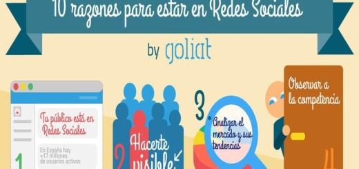 10 motivos para tener presencia en las Redes Sociales (infografía)