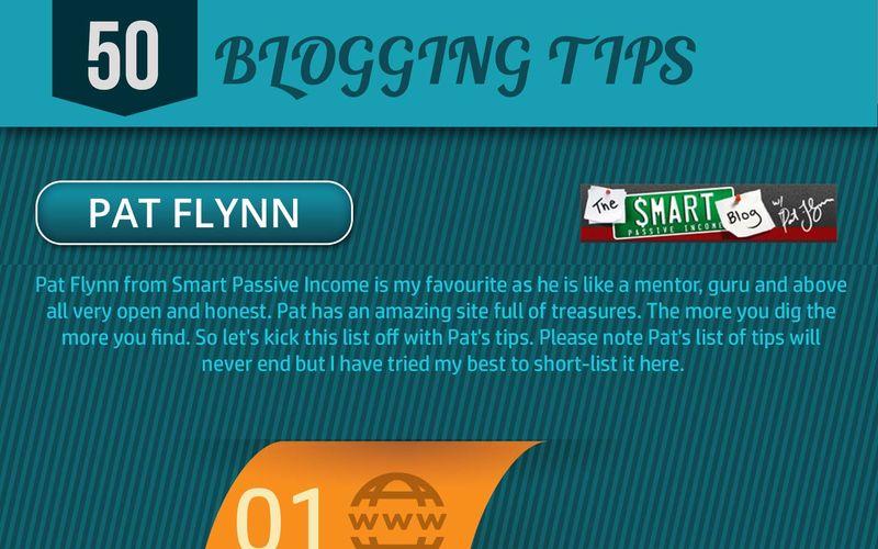 50 excelentes consejos para bloggers (infografía)