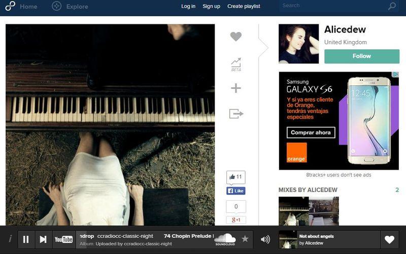 8tracks: millones de canciones para escuchar y crear playlists
