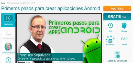 Un curso en línea y gratis para crear aplicaciones Android