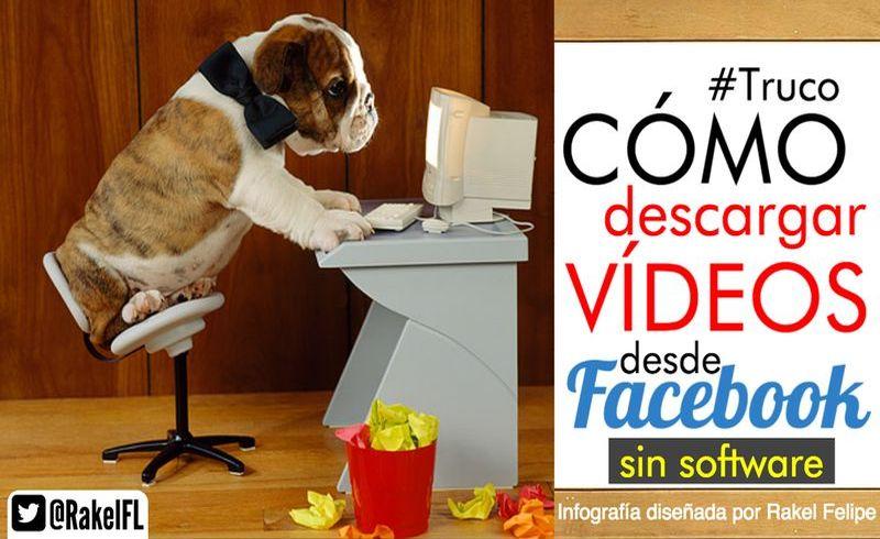 ¿Cómo descargar los vídeos de Facebook sin usar software? (infografía)