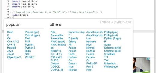 Ideone: editor en línea para más de 60 lenguajes de programación