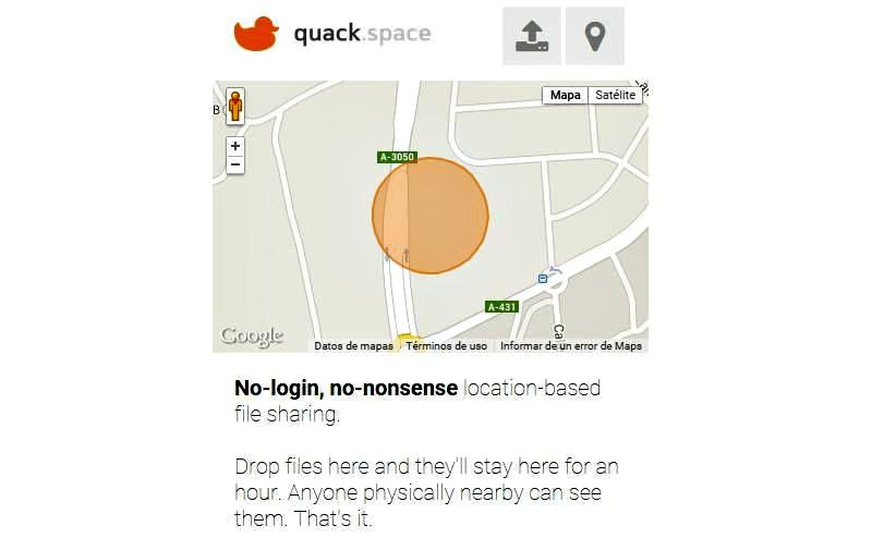 Quack.Space: solución para compartir archivos con personas próximas