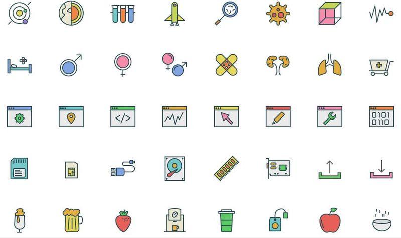 Swifticons: pack de iconos variados a partir de líneas
