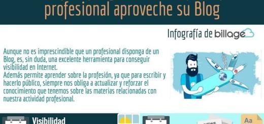 Consejos e ideas que debe conocer un profesional para aprovechar su blog (infografía)