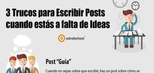 3 buenos trucos para escribir posts cuando te faltan ideas (infografía)