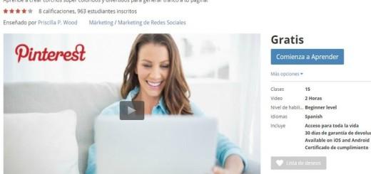 Curso gratis: Aprende el uso de Pinterest para hacer crecer tu negocio